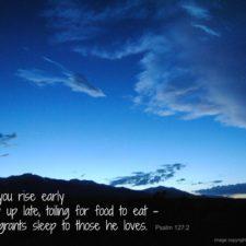 "ALT=""Psalm 127:2 sunset"""